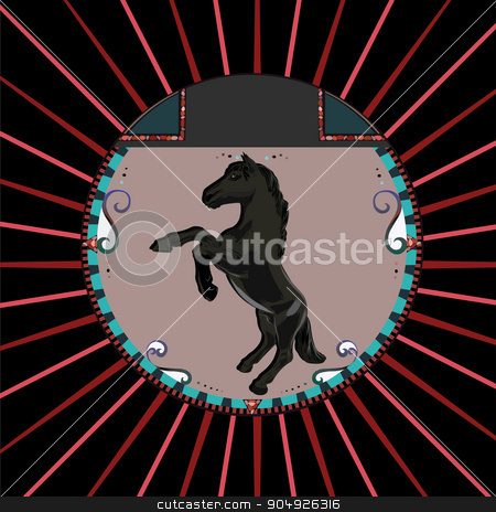 Rearing horse stock vector clipart, Rearing horse by ElemenTxD