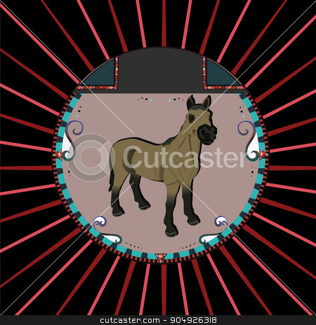 Portrait of a horse stock vector clipart, Portrait of a horse by ElemenTxD