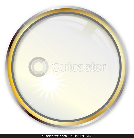 Magnifying Lens stock vector clipart, A magnifying lens over a white background by Kotto