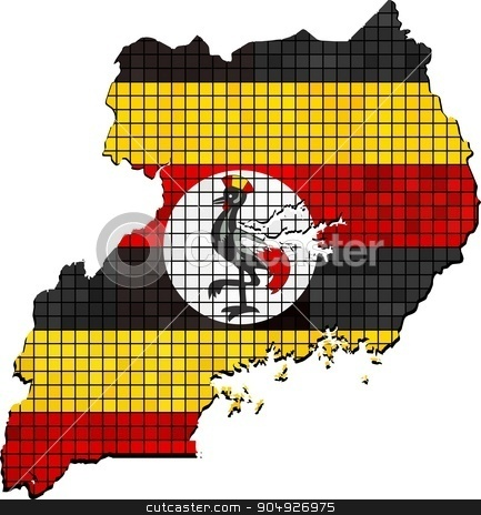 Tanzania map with flag inside stock vector clipart, Tanzania map with flag inside, Tanzania map grunge mosaic, Map of Tanzania in mosaic,  Abstract grunge mosaic vector by Jugoslav
