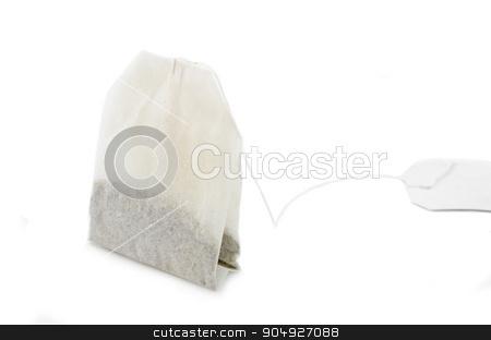 Tea bag. stock photo, Tea bag on white background. by Miss. PENCHAN  PUMILA