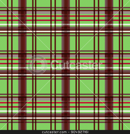 Rectangular seamless pattern in green and brown stock vector clipart, Detailed Rectangular seamless vector pattern as a tartan plaid mainly in green and brown colors by Nataliia