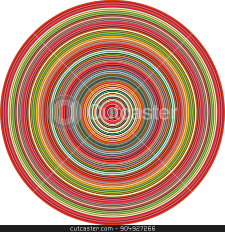 concentric pipes circular shape in multiple colors stock vector clipart, concentric pipes circular shape in multiple colors by johnjohnson