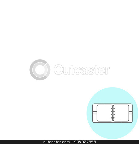 Abstract Creative concept vector background. Line icons flat design elements. Modern vector pictogram of Notepad stock vector clipart, Line icons flat design elements. Modern vector pictogram of Notepad by Vladimir Khapaev