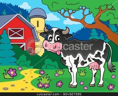 Cow theme image 3 stock vector clipart, Cow theme image 3 - eps10 vector illustration. by Klara Viskova