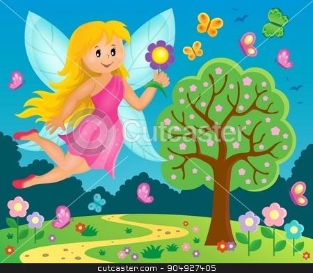Happy fairy theme image 7 stock vector clipart, Happy fairy theme image 7 - eps10 vector illustration. by Klara Viskova