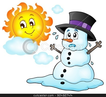 Melting snowman theme image 1 stock vector clipart, Melting snowman theme image 1 - eps10 vector illustration. by Klara Viskova