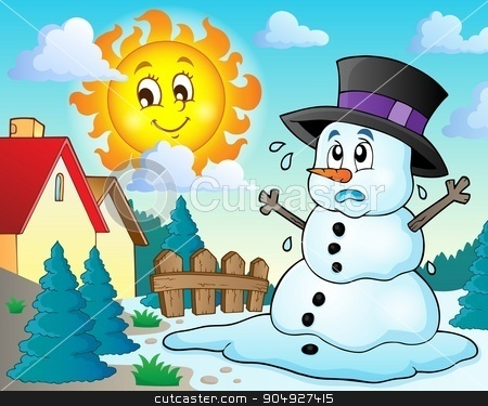 Melting snowman theme image 2 stock vector clipart, Melting snowman theme image 2 - eps10 vector illustration. by Klara Viskova