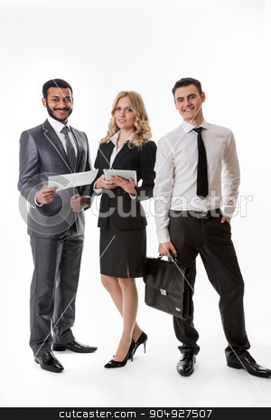 Business partners. stock photo, Successful business team. Business partners. Business people. by Denys