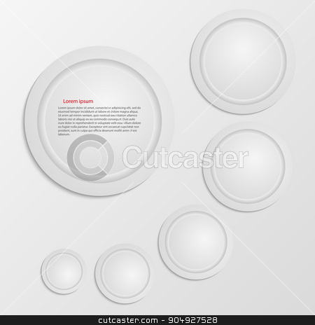 Business Infographics circle origami style stock vector clipart, Business Infographics circle origami style Vector illustration. can be used for workflow layout, banner, diagram, number options, step up options, web design by Amelisk