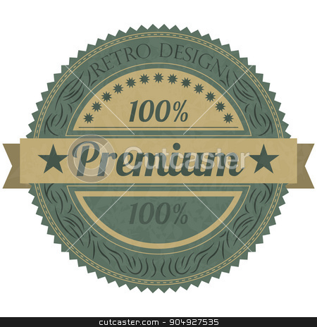 Vector illustration of a banner premium stock vector clipart, Vector illustration of a banner 100 premium. by Amelisk