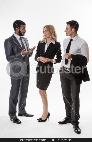 Business team. stock photo, Business partners. Successful business team. Business people. by Denys