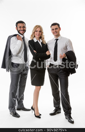 Business team. stock photo, Successful business team. Business partners. Business people. by Denys