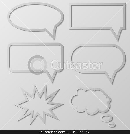 Vector illustration of Speech Balloon stock vector clipart, Vector illustration of the paper Speech Balloon. by Amelisk