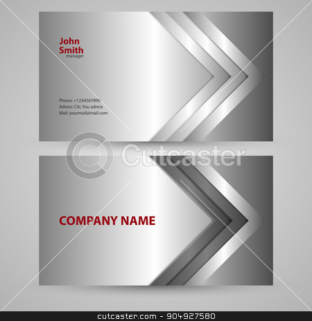 Vector illustration of business card stock vector clipart, Vector illustration of the business card. Stock vector by Amelisk