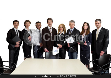 Team leaders. stock photo, Top managers are on a white background. Team leaders. by Denys
