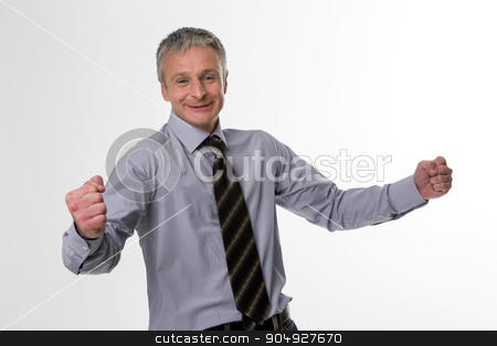 Happy businessman. stock photo, Happy businessman. Confident glance of top manager. by Denys
