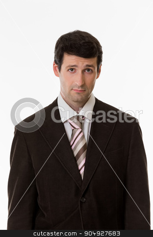 Unsure glance. stock photo, Handsome  businessman. Unsure glance of top manager. by Denys