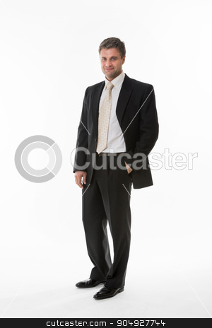 Manager in  business suit. stock photo, Confident clerk. Successful look of boss. Manager in  business suit. by Denys