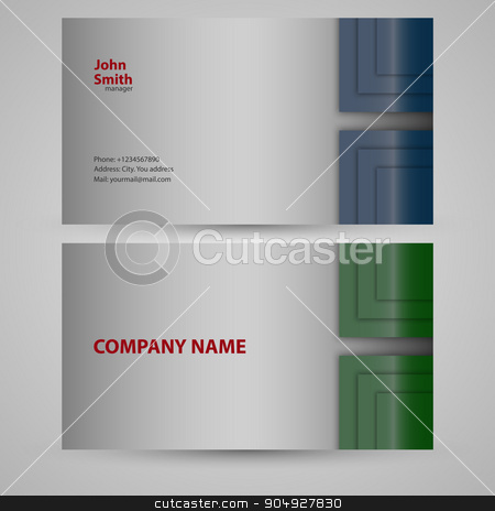 Vector illustration of business card stock vector clipart, Vector illustration of business card. Stock vector by Amelisk