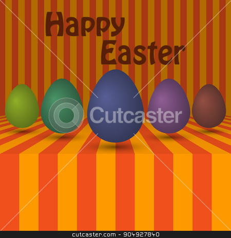 Vector illustration background colored eggs stock vector clipart, Vector illustration background colored eggs. Stock vector by Amelisk
