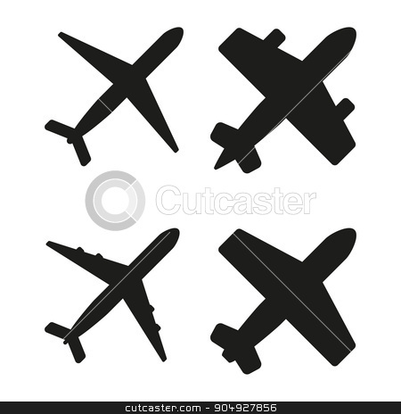 Vector illustration of black planes stock vector clipart, Vector illustration of black planes. Stock vector by Amelisk