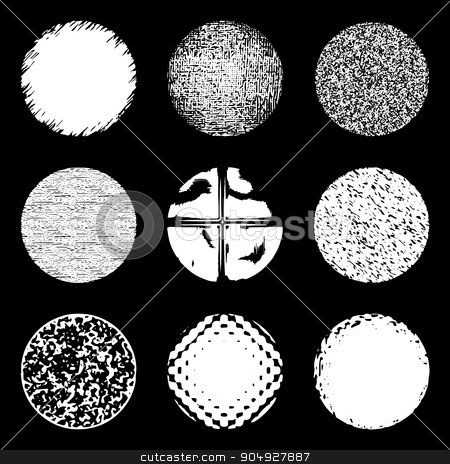 Vector illustration of grunge circles stock vector clipart, Vector illustration of grunge circles. Stock vector by Amelisk