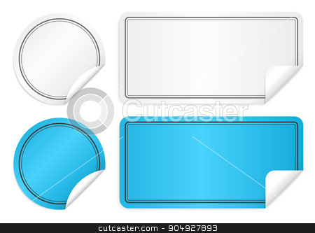 Vector illustration of paper stickers stock vector clipart, Vector illustration of paper stickers. Stock vector by Amelisk
