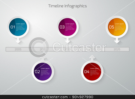 Vector illustration Timeline Infographic stock vector clipart, Vector illustration of Timeline Infographic. Stock vector by Amelisk
