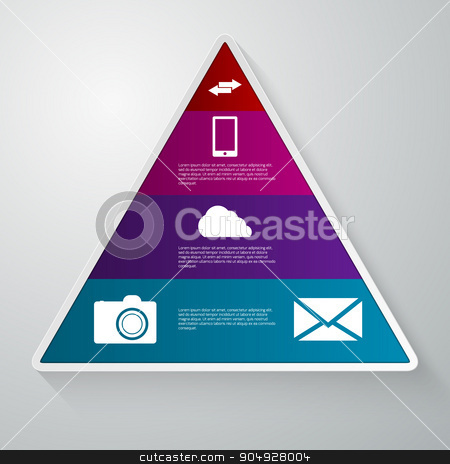 vector illustration of a triangle with the sectors stock vector clipart, vector illustration of a triangle with the sectors. Stock vector by Amelisk