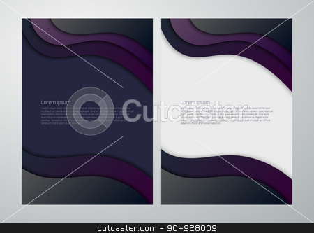 Vector illustration business background with waves stock vector clipart, Vector illustration business background with waves. Stock vector by Amelisk
