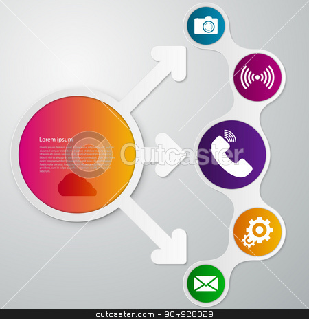 Vector illustration infographics circle arrow stock vector clipart, Vector illustration infographics circle arrow. Stock vector by Amelisk