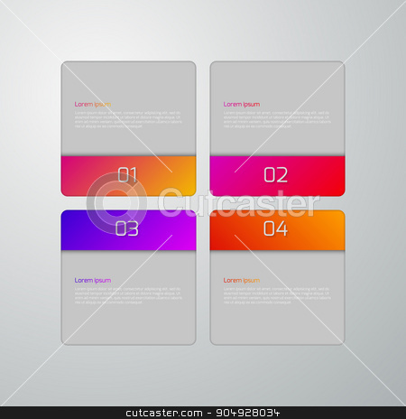Vector illustration infographics squares stock vector clipart, Vector illustration infographics squares with rounded corners. by Amelisk
