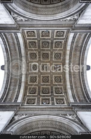 Arc de Triomphe detail stock photo, Arc de Triomphe arch detail in Paris, France by Dutourdumonde