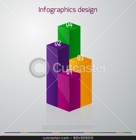 Vector illustration infographics vertical columns stock vector clipart, Vector illustration infographics vertical columns. Stock vector by Amelisk