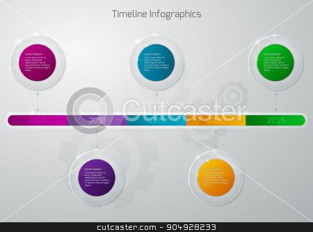 Vector illustration of timeline infographics glass stock vector clipart, Vector illustration of a timeline infographics glass. Stock vector by Amelisk