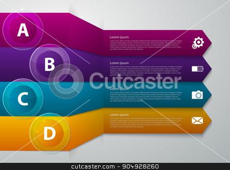 Vector illustration infographics band arrow stock vector clipart, Vector illustration infographics band arrow. Stock vector by Amelisk