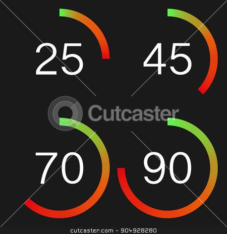 Vector illustration of a digital speedometer stock vector clipart, Vector illustration of a digital speedometer. Stock vector by Amelisk