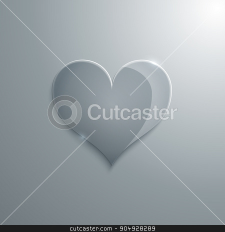 Vector illustration of a heart glass stock vector clipart, Vector illustration of a heart of glass. Stock vector by Amelisk