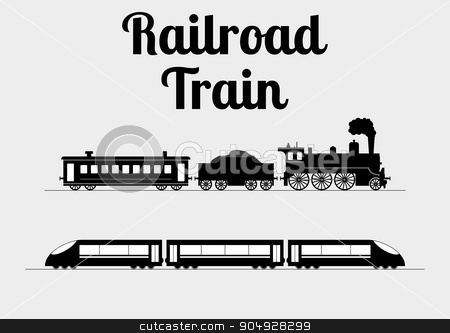Vector illustration of a train stock vector clipart, Vector illustration of a train. Stock vector by Amelisk