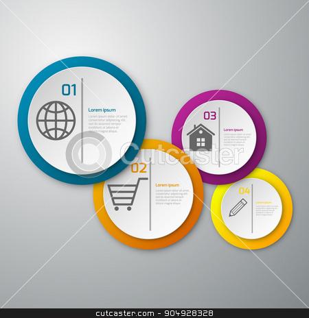 Vector illustration infographics paper circles stock vector clipart, Vector illustration infographics paper circles. Stock vector by Amelisk