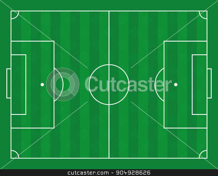 Vector illustration of a football field stock vector clipart, Vector illustration of a football field. Stock vector by Amelisk