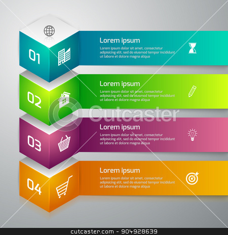 Vector illustration infographics 3d cube stock vector clipart, Vector illustration infographics 3d cube. Stock vector by Amelisk