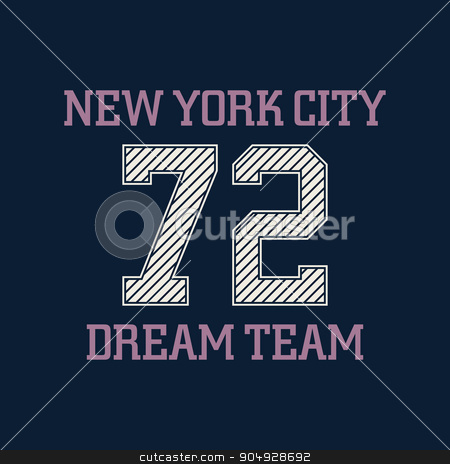 New york city typography, t-shirt graphics stock vector clipart, New york city typography, t-shirt graphics, dream team. Vector illustration. by Amelisk