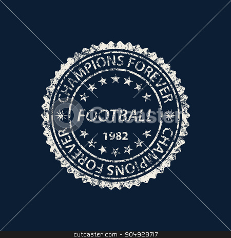 Vector illustration of a football logo stock vector clipart, Vector illustration of a football logo . Typography, t-shirt graphics. by Amelisk