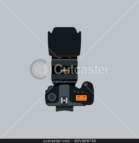 Vector illustration of a flat design Camera stock vector clipart, Vector illustration of a flat design Camera. by Amelisk