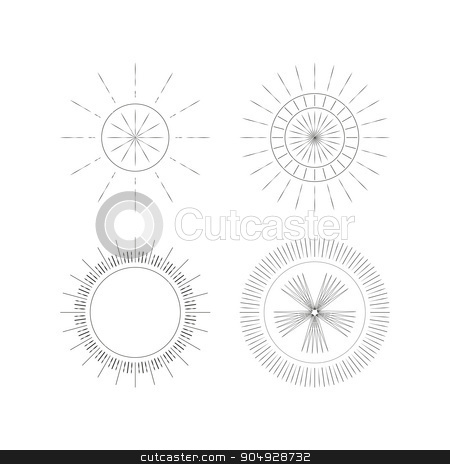 Vector illustration of a set Ray Monogram stock vector clipart, Vector illustration of a set Ray Monogram. by Amelisk