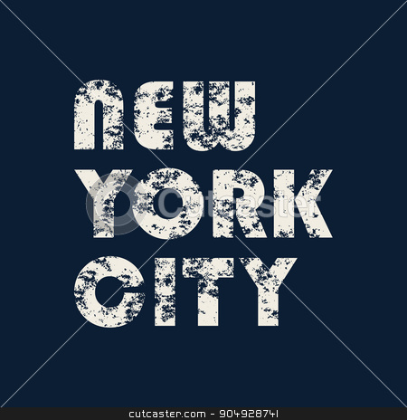 New York typography, t-shirt graphics stock vector clipart, New York typography color design. Stock vector by Amelisk