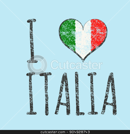 I love italia typography, t-shirt graphics stock vector clipart, I love italia typography, t-shirt graphics. vector illustration. by Amelisk