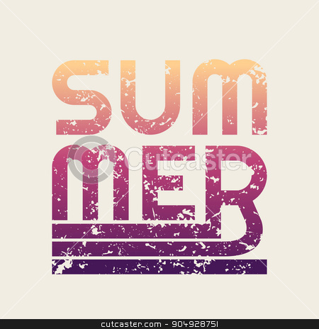 summer typography, t-shirt graphics stock vector clipart, the summer illustration. Stock vector. Color design by Amelisk